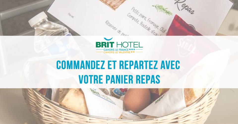 panier repas au Brit Hotel Cahors LE FRANCE
