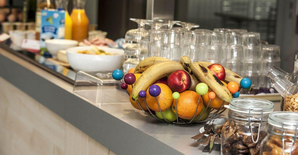 Le buffet petit-déjeuner de l'hôtel de Cahors