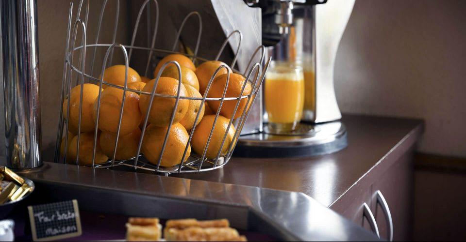 Le petit-déjeuner de l'hôtel de Rennes