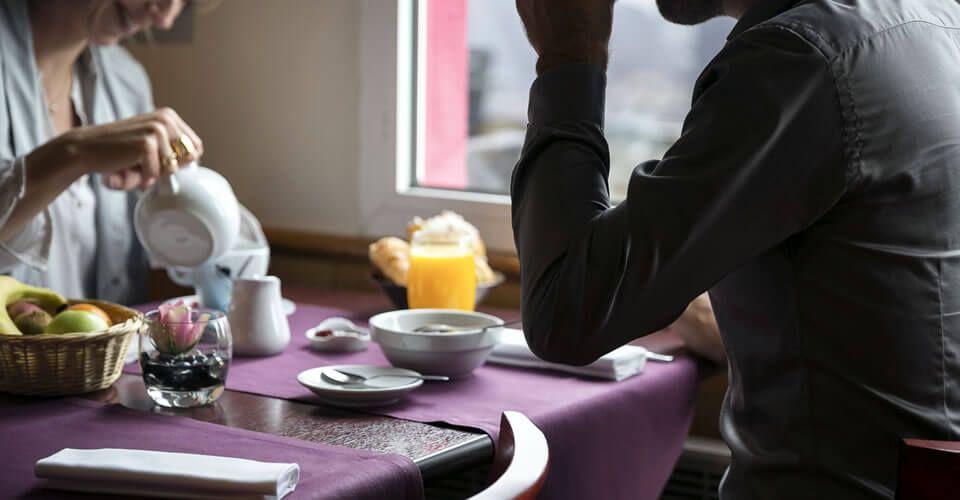 Le petit déjeuner de l'hôtel de Rennes