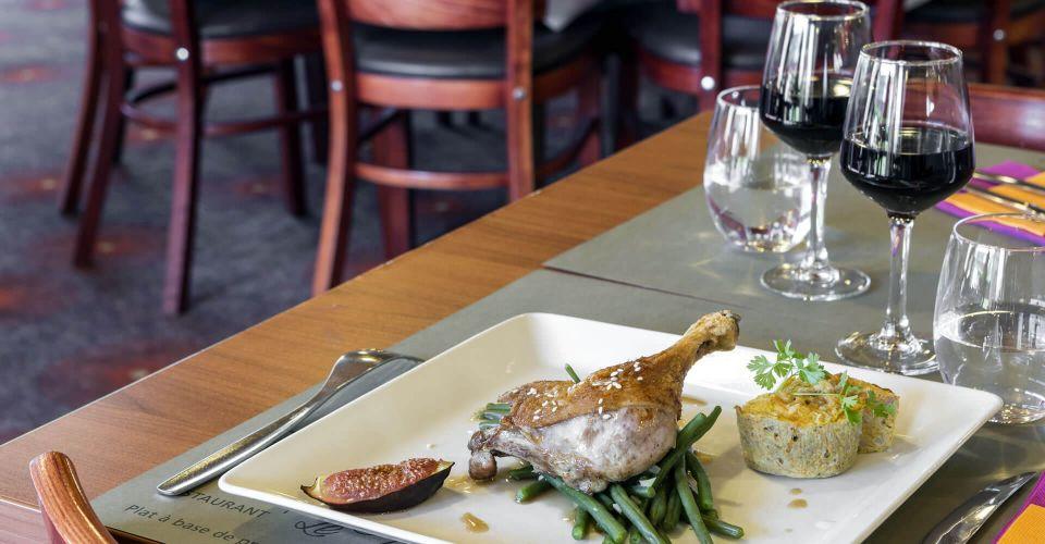 """Un plat du restaurant """"le Villeneuve"""" au nord de Rennes"""