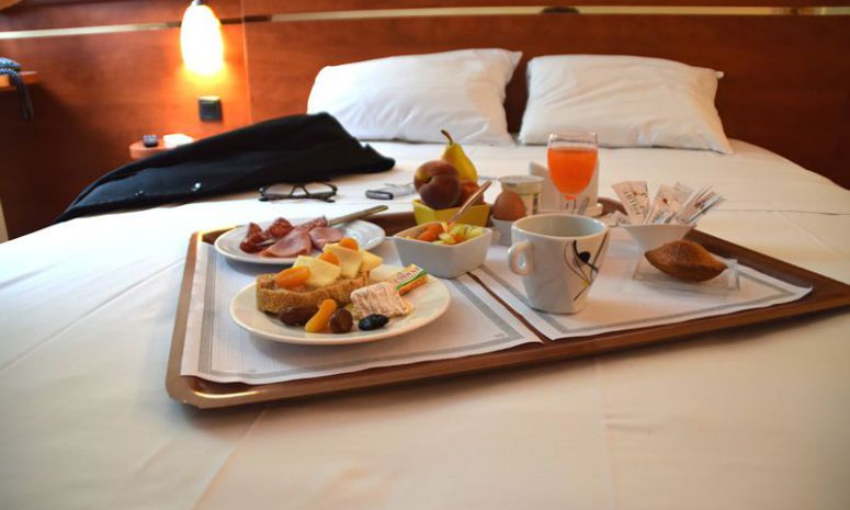 On request, breakfast is served in your room