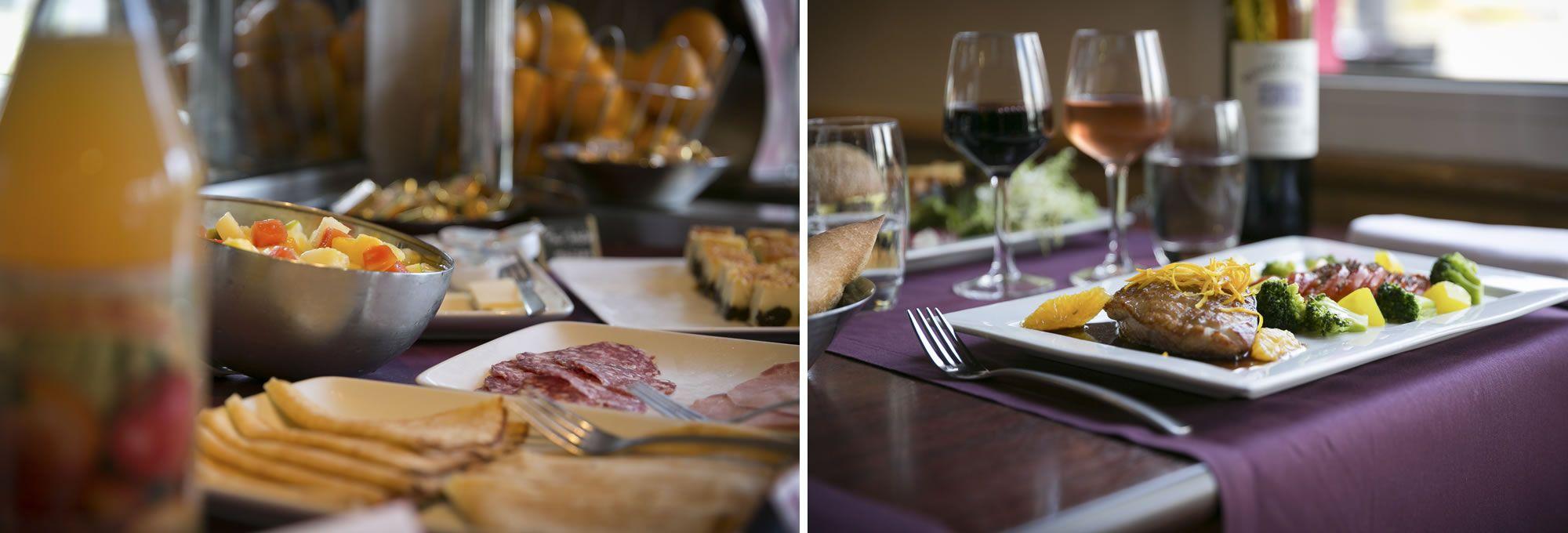 Petit-déjeuner et restaurant au Brit Hotel Le Castel de Rennes