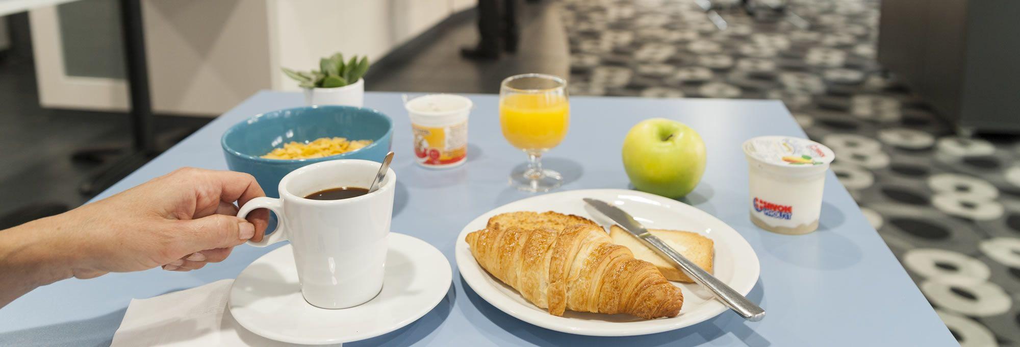 Le petit-déjeuner local