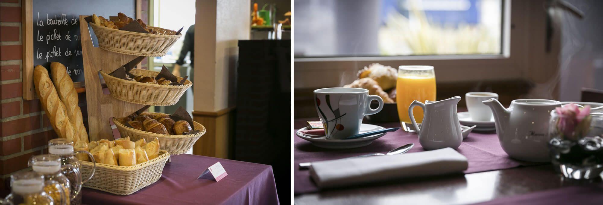 Petit-déjeuner en buffet à l'hôtel de Rennes