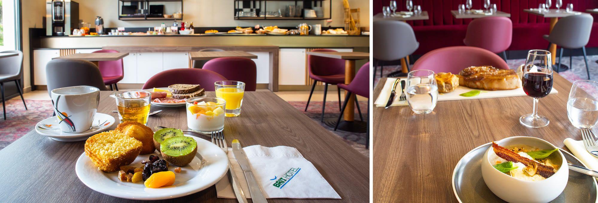 Petit déjeuner buffet et restaurant au Brit Hotel Caen