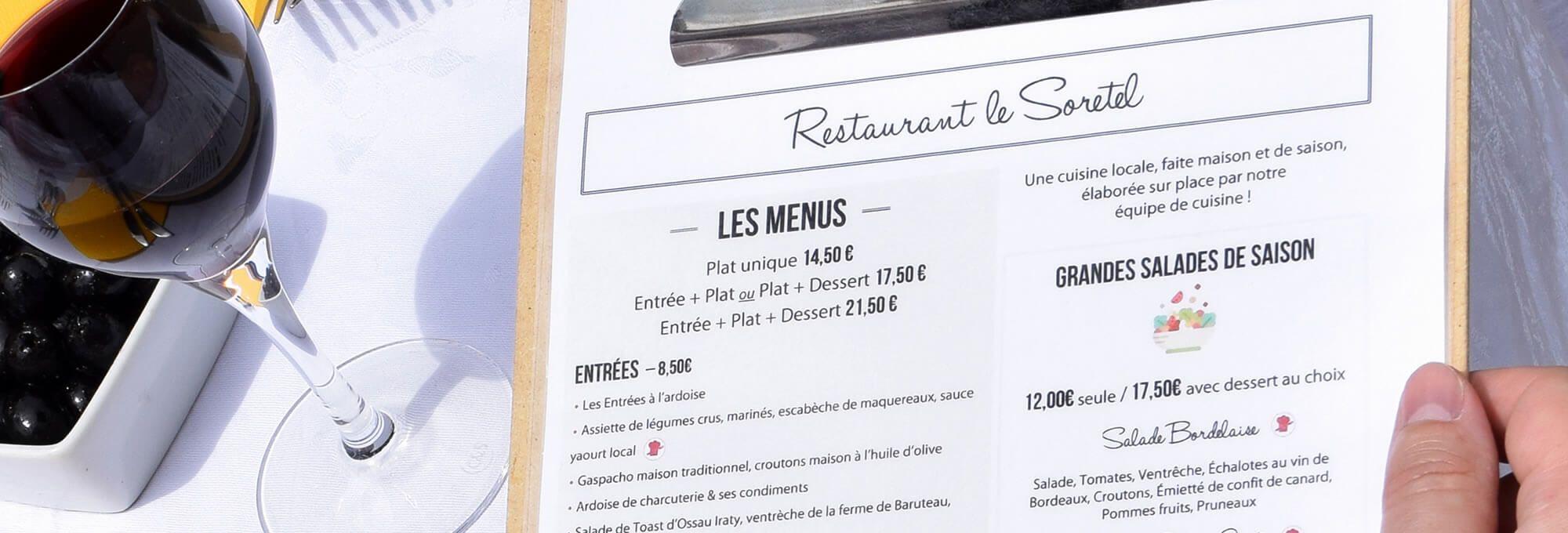restaurant de l'hôtel de Bordeaux Aéroport