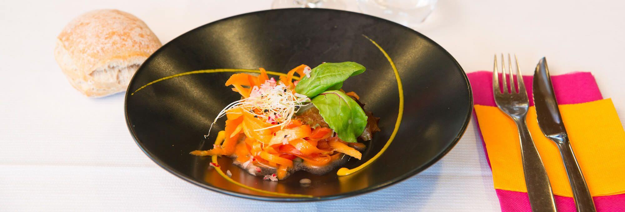Un joli plat du restaurant Le Villeneuve