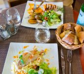 Dishes at the restaurant Le Prema in Blois
