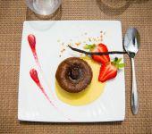 Dessert at the Prema restaurant