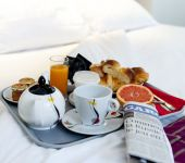 Breakfast in bed at the Hotel de Belfort