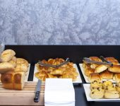 The Viennese pastry part of our breakfast buffet