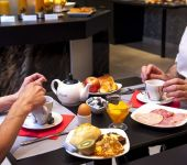 A full breakfast at the Brit Hotel Belfort Centre