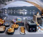Under the Avignon bridge, the breakfast buffet