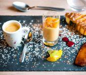 Le café gourmand servit au restaurant de Brest