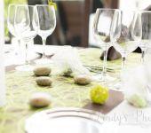 Une table joliment décoré pour un mariage à Nantes