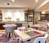 La salle du petit-déjeuner à l'hôtel de Brest