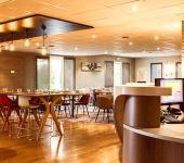 La salle du restaurant Le Kerhuon, restaurant de l'hôtel de Brest