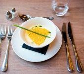 Oeuf mollet au restaurant de Brest
