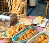 Côté boulangerie au petit-déj de Saint-Malo