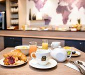 Le petit-déjeuner à l'hôtel de Brest