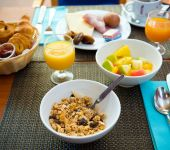 Un petit-déjeuner sans gluten à l'hôtel