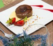 A dessert at the Blois restaurant