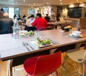 La salle du restaurant à Brest