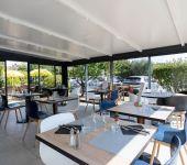 The veranda of the restaurant in Avignon
