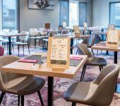 La table avec la carte au restaurant de Brest