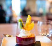 Une verrine en dessert au restaurant de Brest