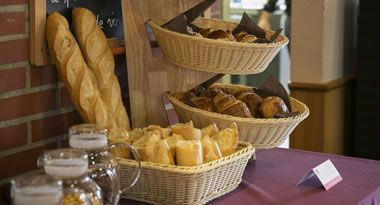 Bread and pastries from local bakery