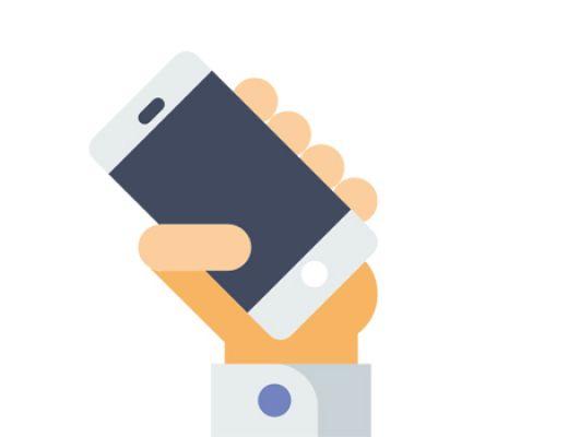 Téléphone dans la main